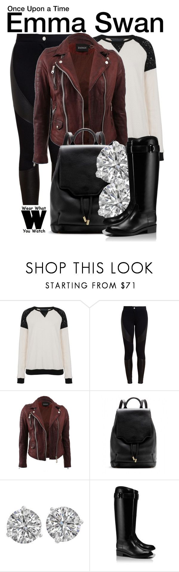 Once Upon a Time by wearwhatyouwatch on Polyvore featuring moda, French Connection, Doma, Givenchy, Tory Burch, rag & bone, television and wearwhatyouwatch
