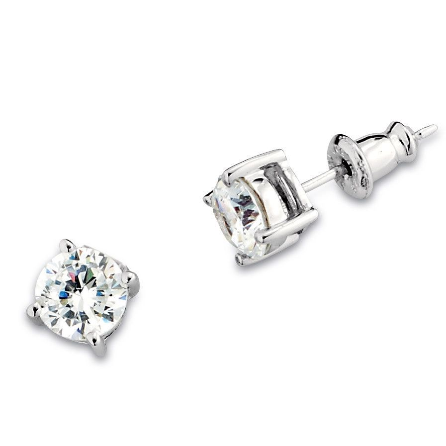 Glamorous elle earrings fashionable sterling silver and