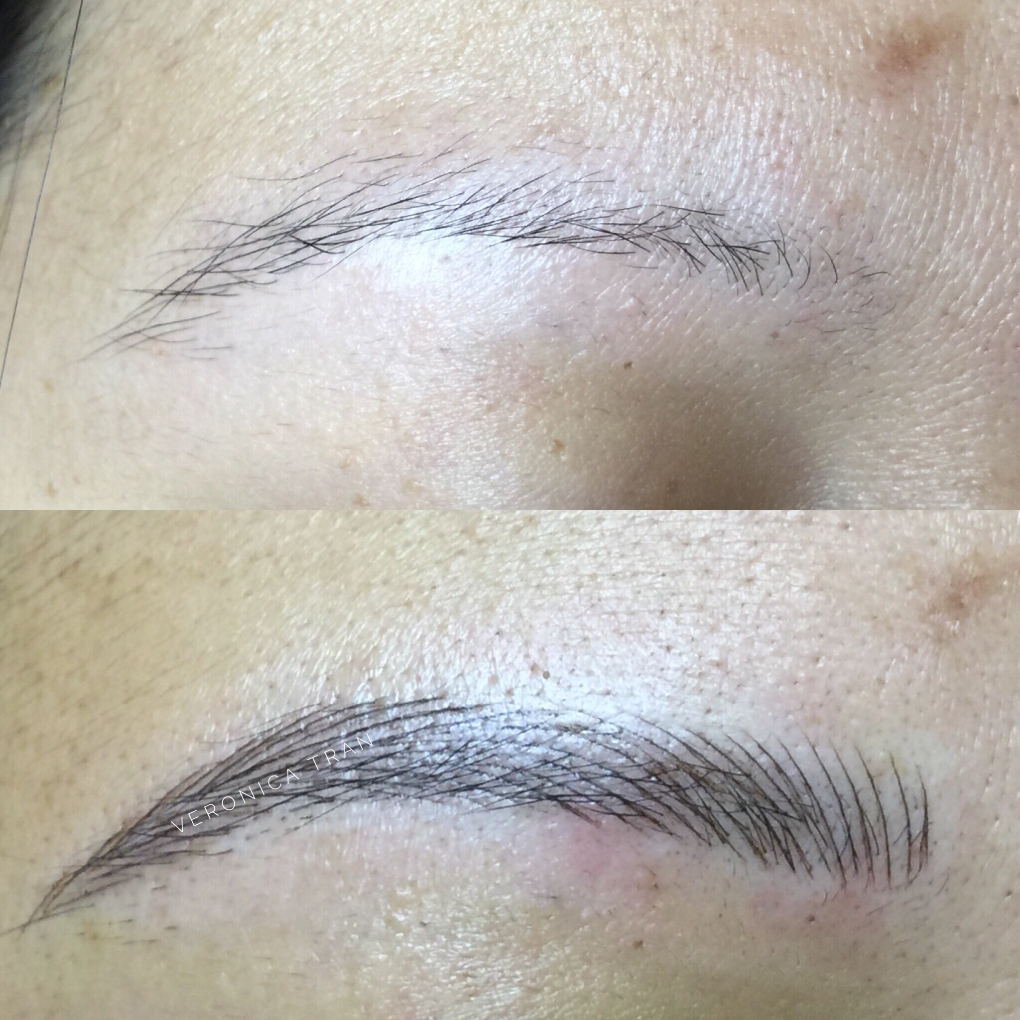 Eyebrow Tattoo With Microblading Technique Microblanding In 2019
