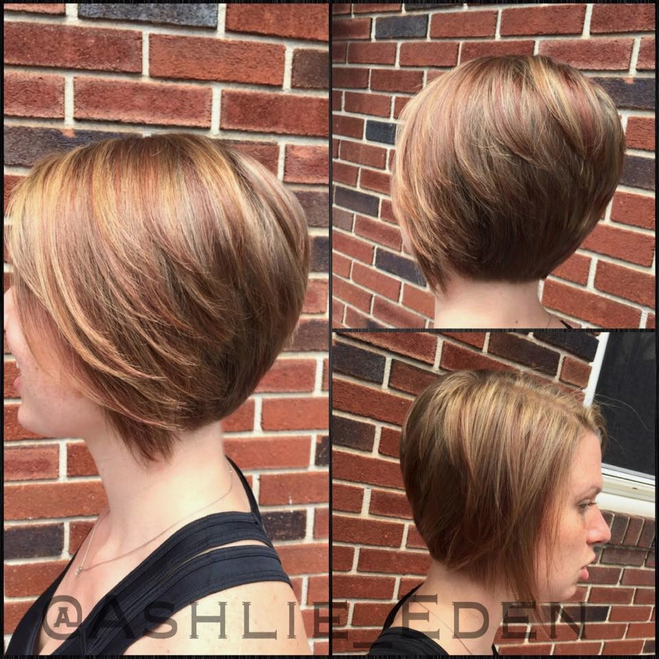 bob hairstyles long in front short in back - Google Search  Short