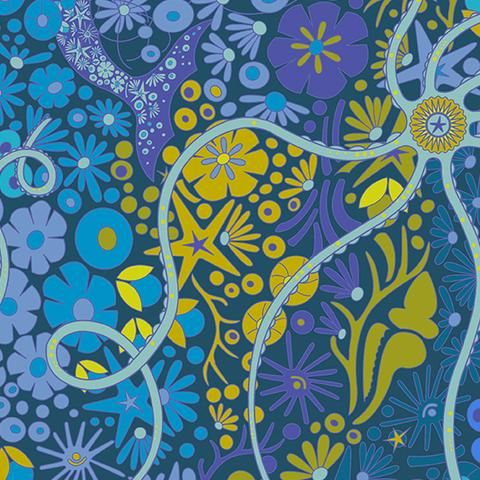 Alison Glass Diving Board Pearl Lagoon Under the Sea Andover ... : modern quilt fabric online - Adamdwight.com