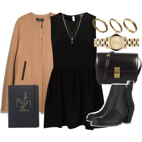 Untitled #3290 by laurenmboot on Polyvore featuring MANGO, Acne Studios, Marc by Marc Jacobs, Made, Orelia and CÉLINE