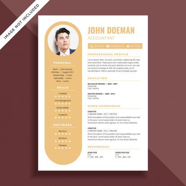 Curriculum Vitae Simple Cv Diseño De La Plantilla En 2020