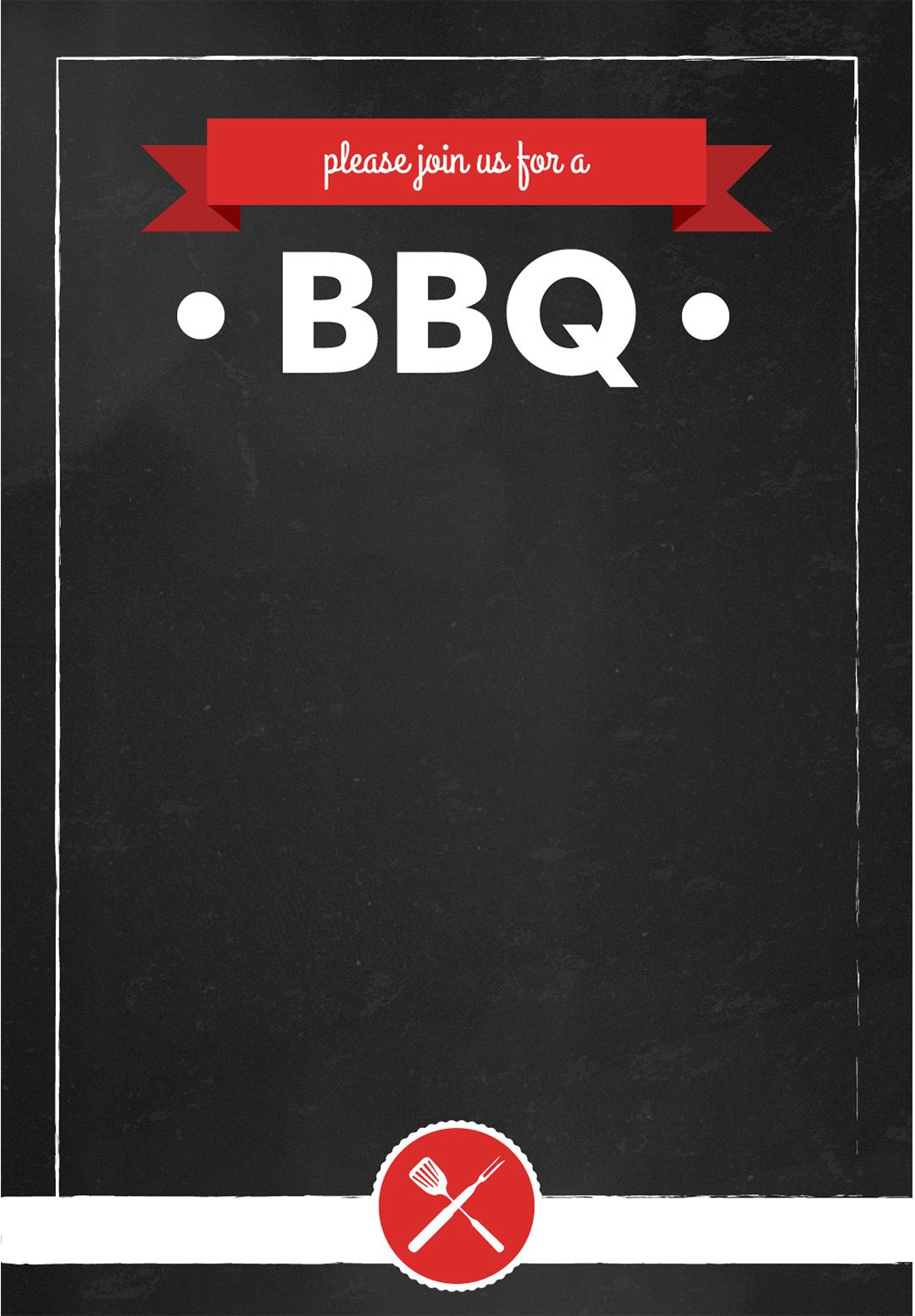 image relating to Free Printable Bbq Invitations named Sign up for Us for a BBQ - BBQ Occasion Invitation Template (Absolutely free