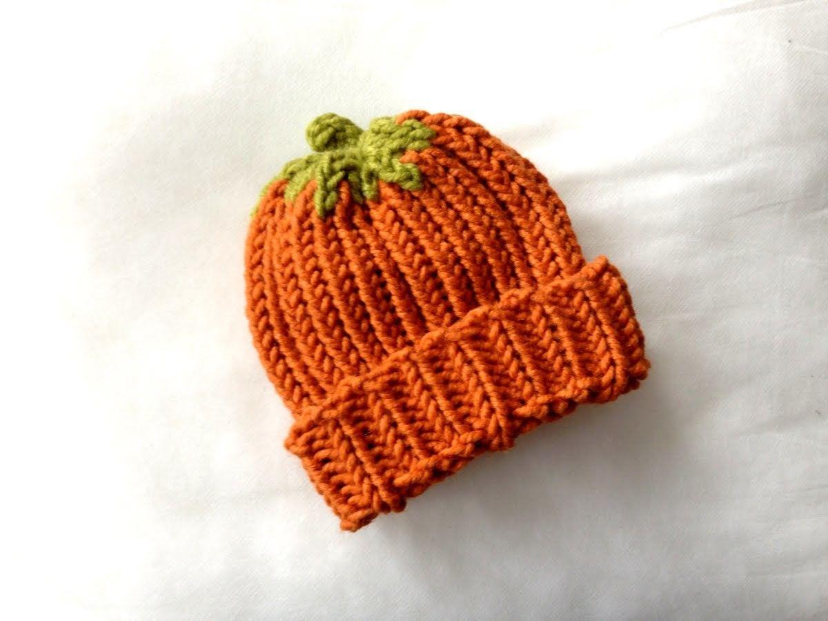 How to Loom Knit a Pumpkin Hat (DIY Tutorial) | Cómo tejer, Telar y ...