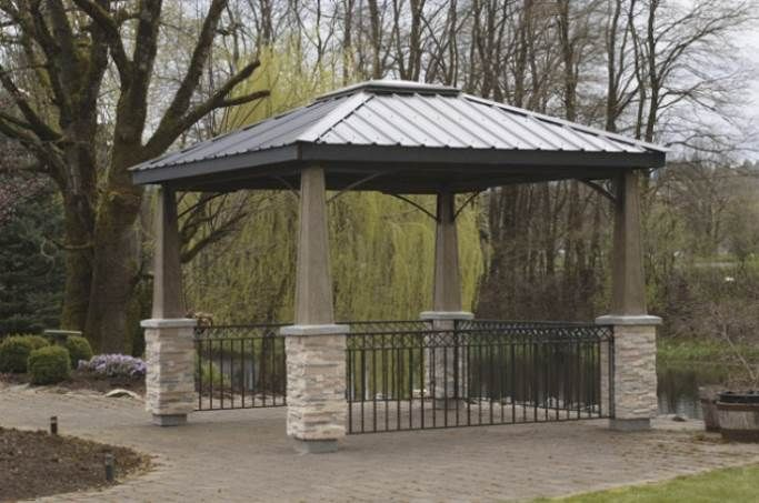 Metal Gazebo Roof Ideas Nucleus Home Gazebo Modern Gazebo