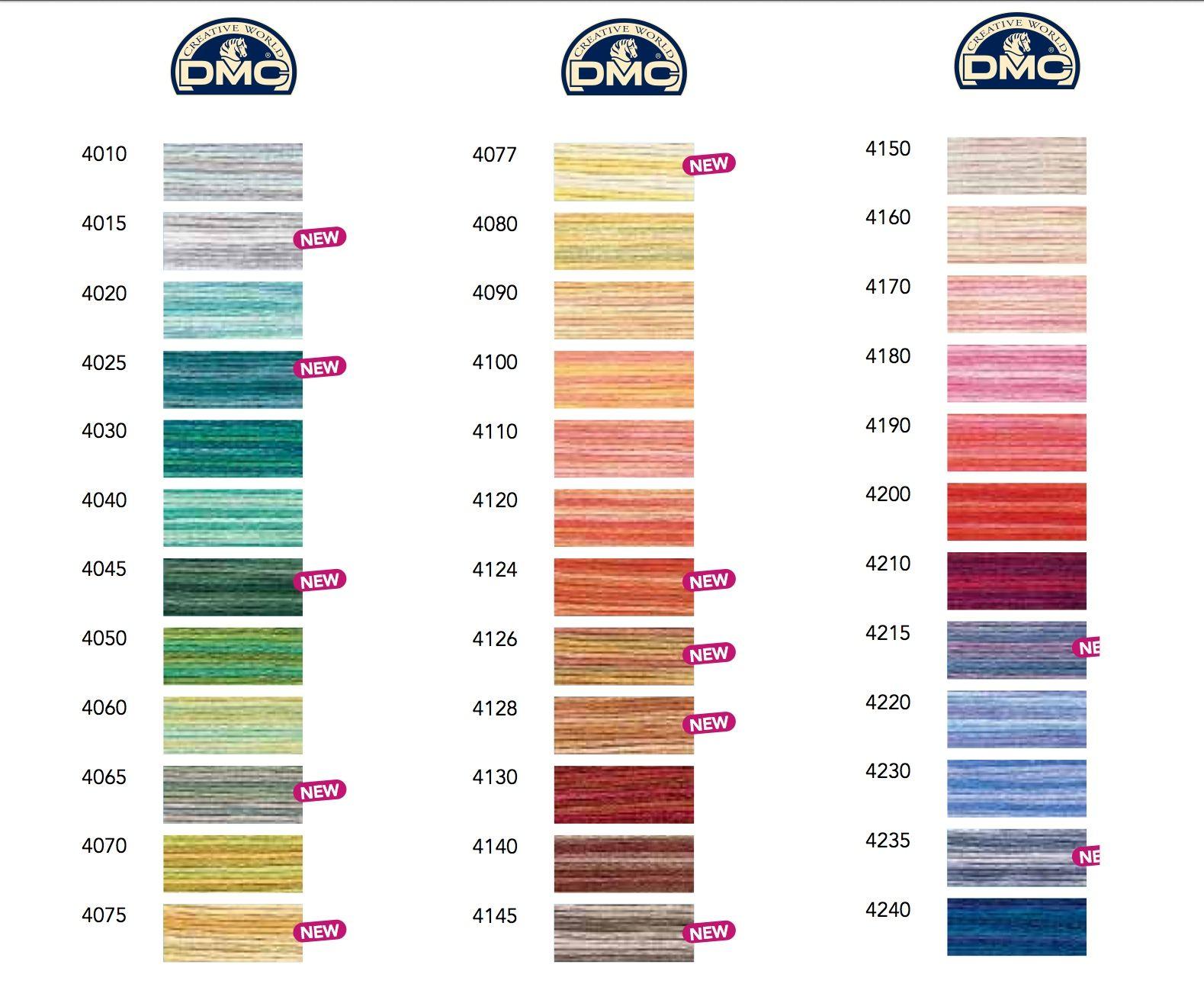 Dmc Pearl Cotton Variations Color Card 36 Colors Color Card Yarn Thread Needlepoint