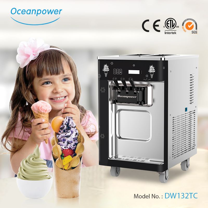 Tabletop Soft Ice Cream Machine 2 1 Mixed Commercial Ice Cream