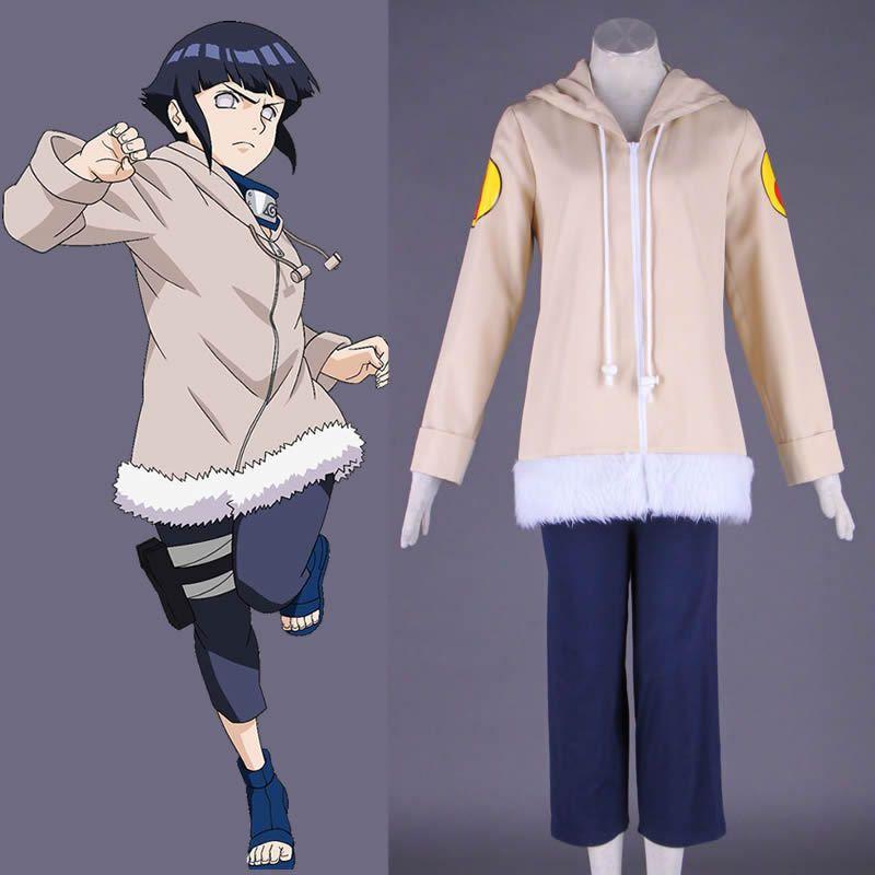 Cosplay Outfit Anime Shippuden Hinata Hyuga Ninja Uniform Coats+Pants Full Set