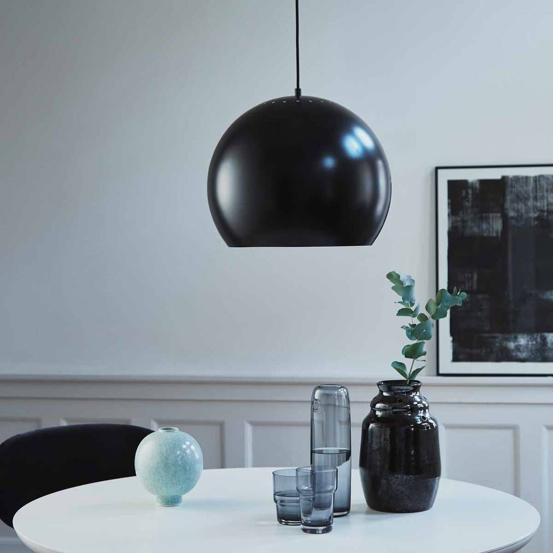 Suspension Noir mat ˜40cm BALL