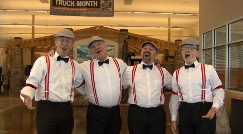 O Meara Ford >> Just A Minute Barbershop Quartet At Omeara Ford 100th
