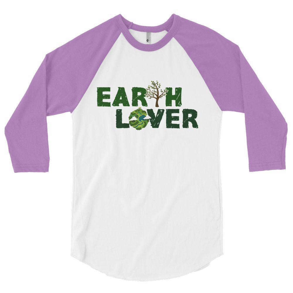3/4 SLEEVE GREEN EARTH LOVER RAGLAN SHIRT
