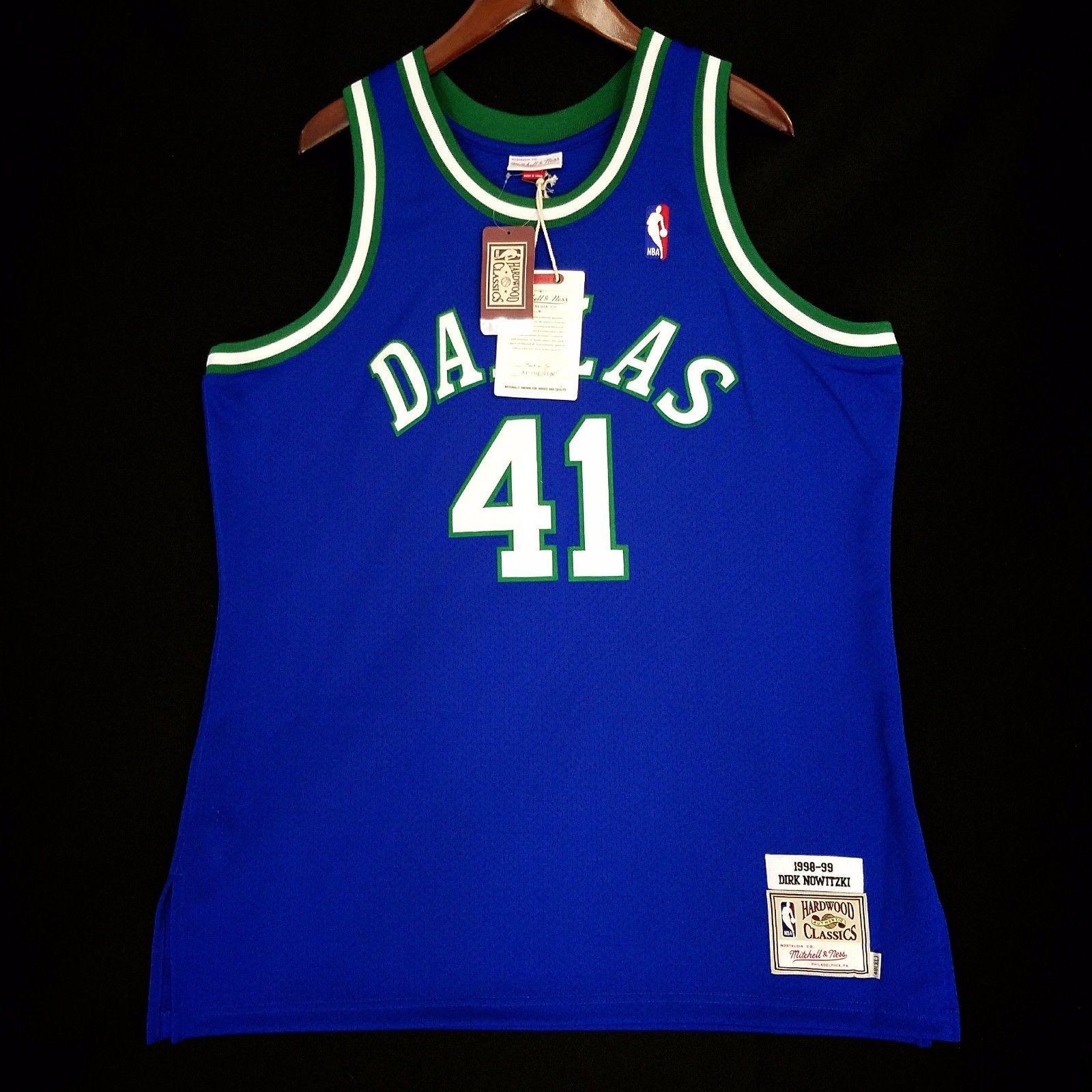 premium selection 7281c 868c9 100% Authentic Dirk Nowitzki Mitchell & Ness Mavericks ...