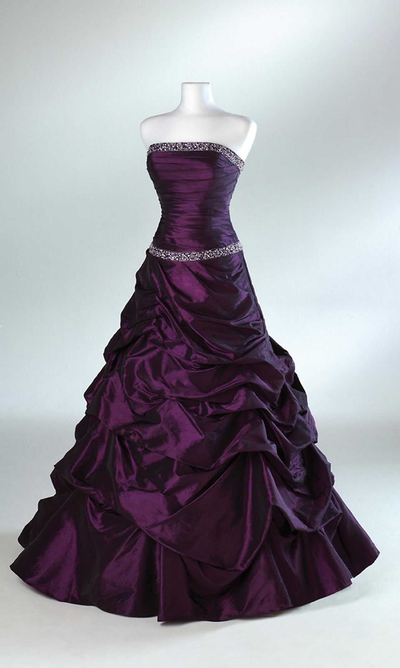 Plum strapless ball gown dress Pinterest Ball gowns Gowns and