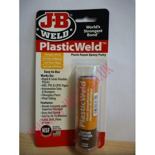 J-B PlasticWeld Epoxy Putty PlasticWeld is a fast-setting, hand
