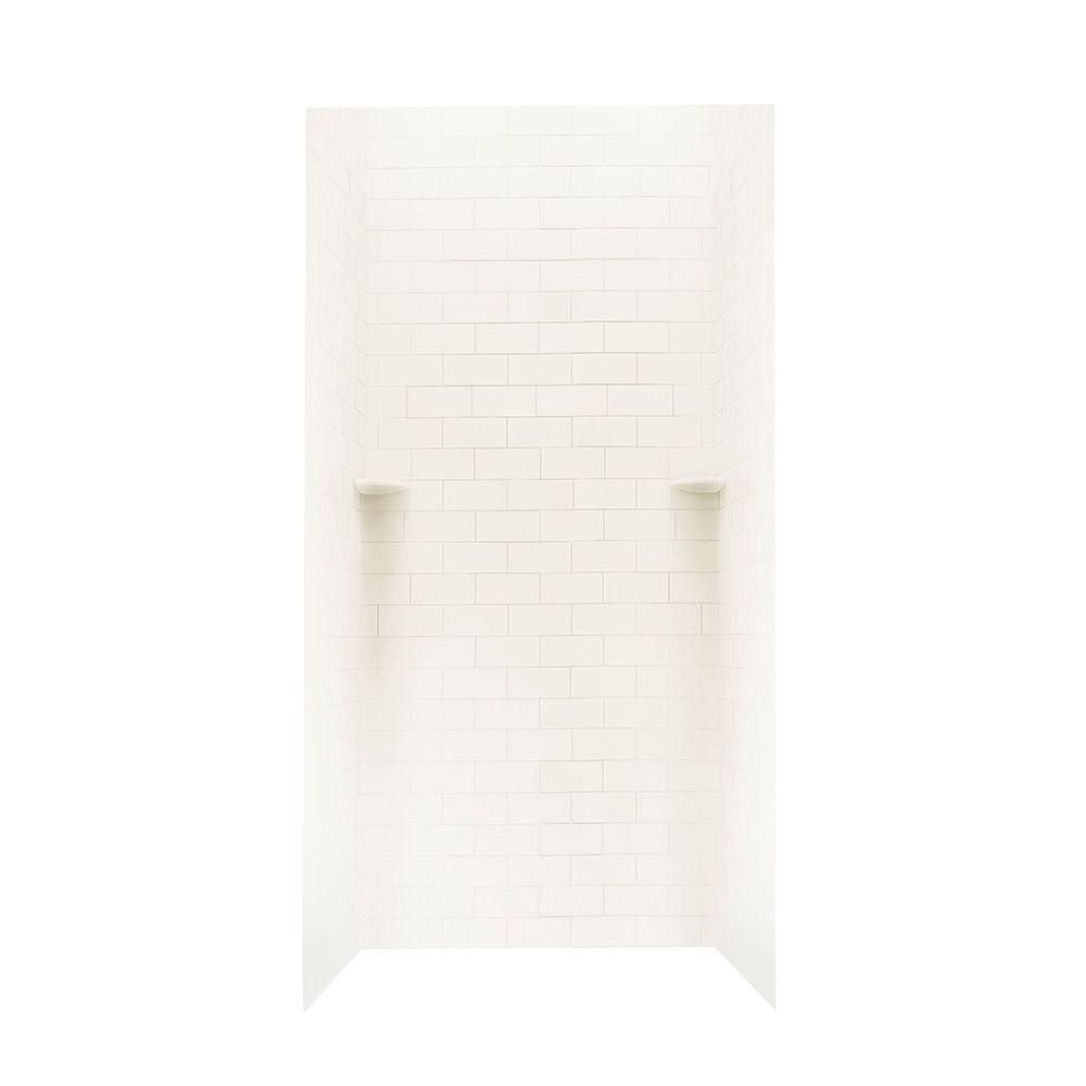 Swan 36 In X 36 In X 96 In 3 Piece Solid Surface Subway Tile