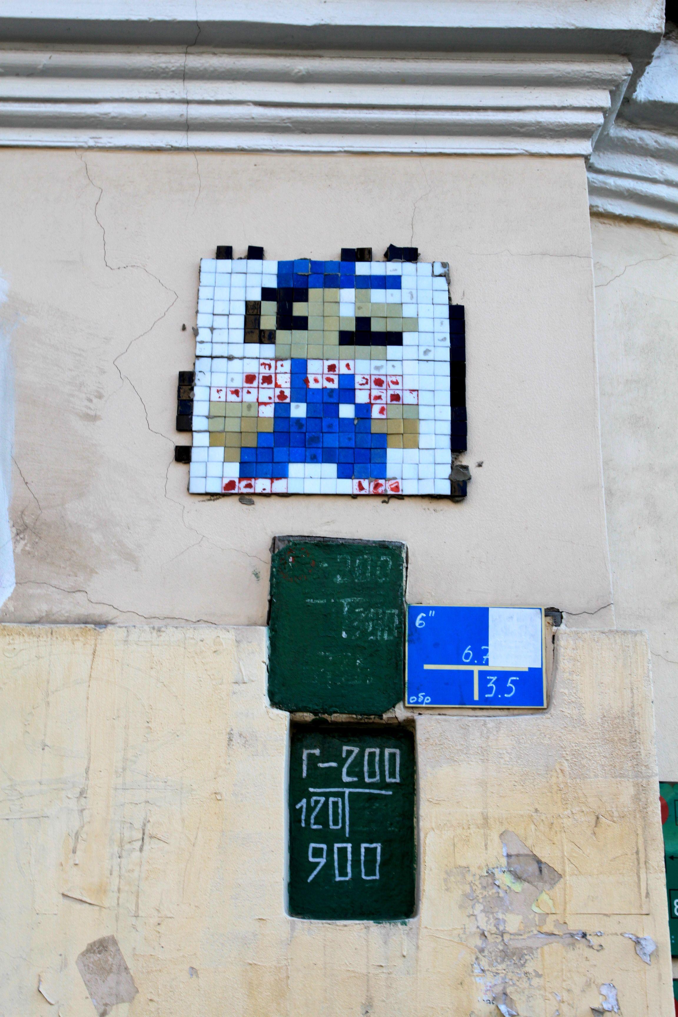 Санкт-Петербург. Space Invader на Рубинштейна.