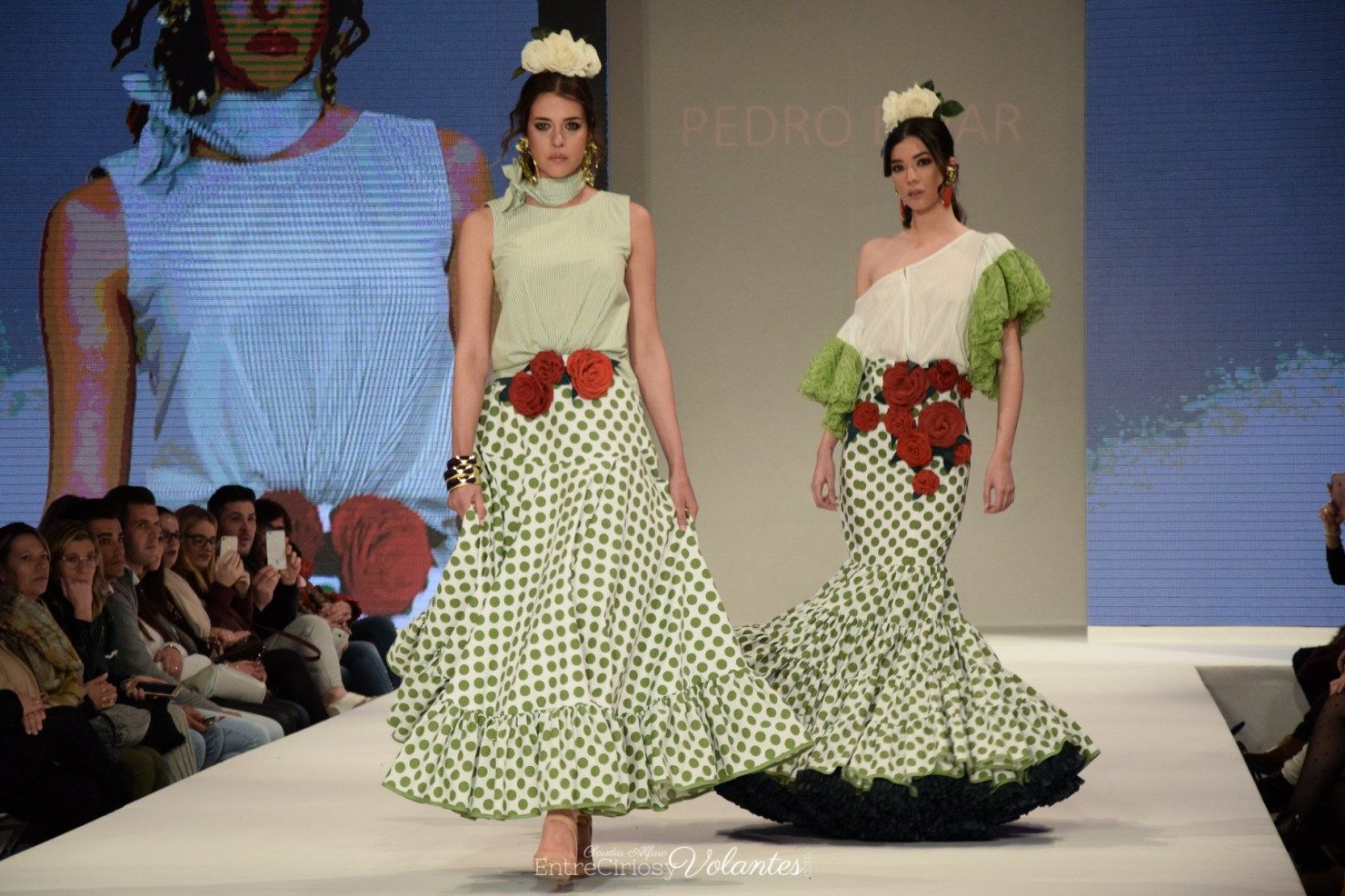 5e8ec9b32 Diseño: Pedro Béjar. Pasarela Doñana Flamenca 2018. Foto: Claudia ...