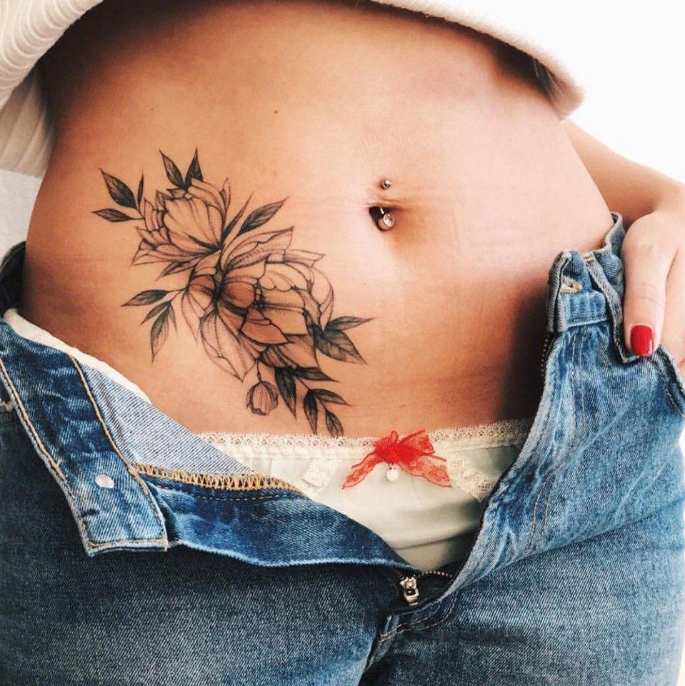 женские тату на животе картинки сожалению