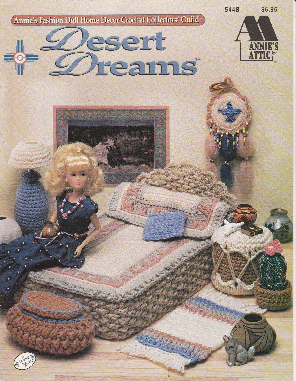 Desert Dreams Barbie Doll Furniture Annie/'s Crochet Pattern Leaflet