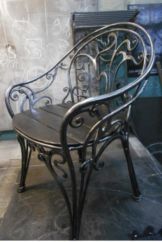 Epingle Par Dmf Sur Fer Forge Chaise En Fer Chaise Fer Forge Et Fer Forge