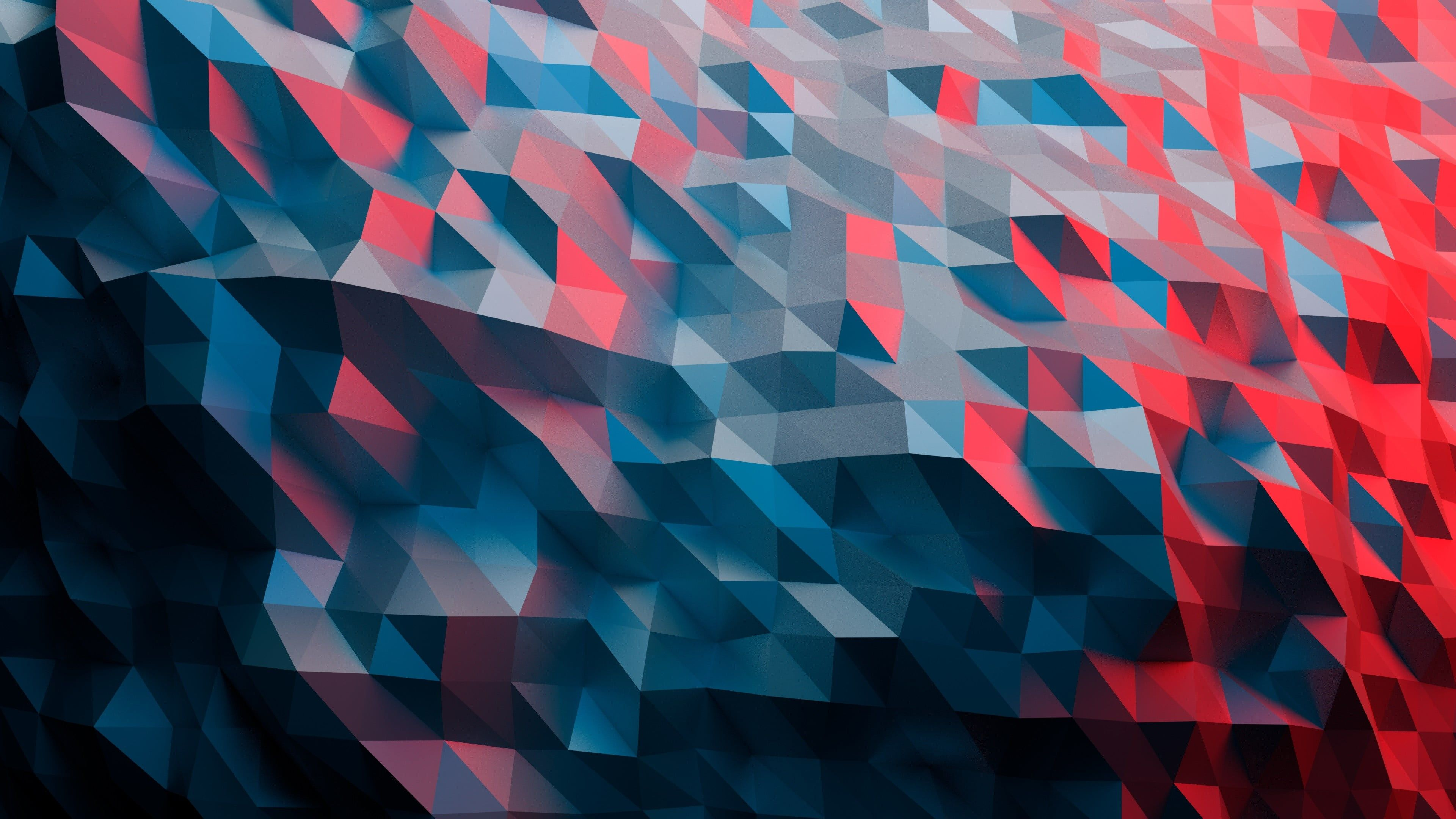 Red Black And Blue Abstract Painting Low Poly Abstract 4k Wallpaper Hdwallpaper Desktop Abstract Wallpaper Abstract 3840x2160 Wallpaper