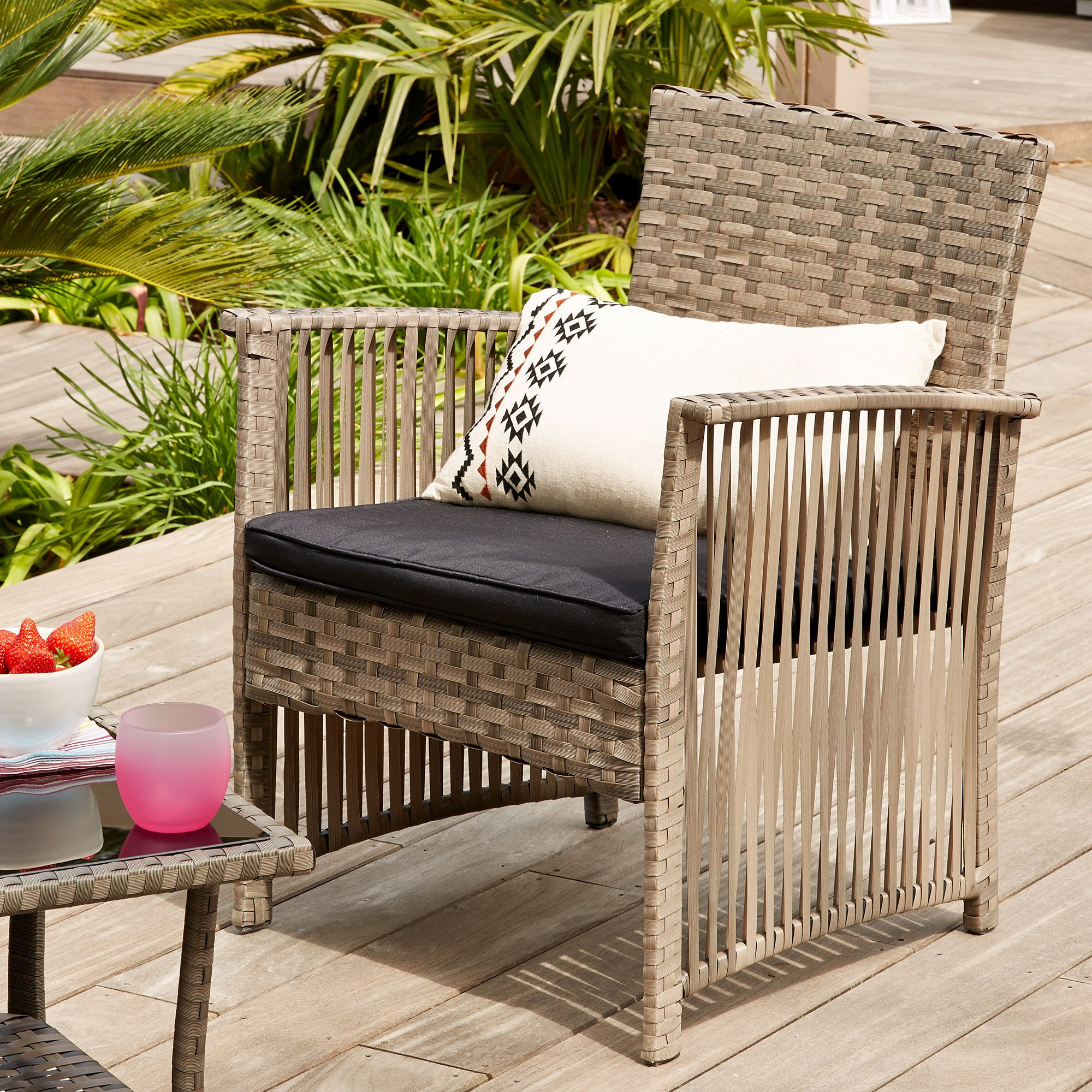 Fauteuil de jardin alin a mobilier de salon meuble Alinea jardin mobilier