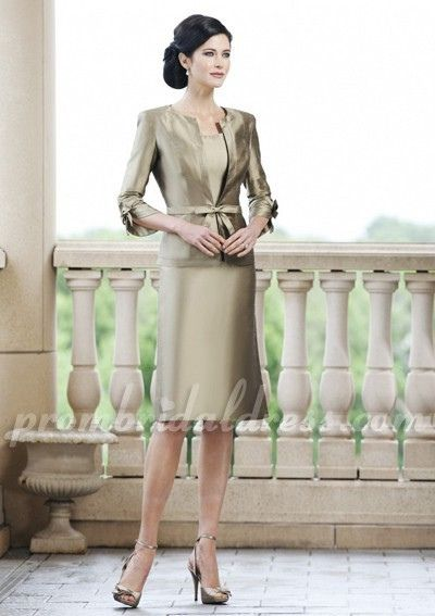 Champagne Fashion A-Line Mother of the Bride Dress     Modelgelin  you want to be like