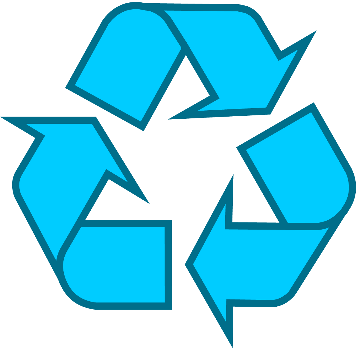 Light blue universal recycling symbol logo sign httpwww one of the most famous symbols on the planet the recycle logo has an interesting history biocorpaavc Gallery