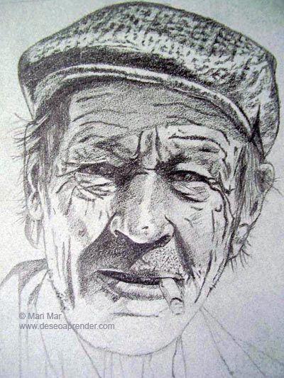 Rostro De Hombre Fumando Dibujos Dibujos A Lapiz Rostros