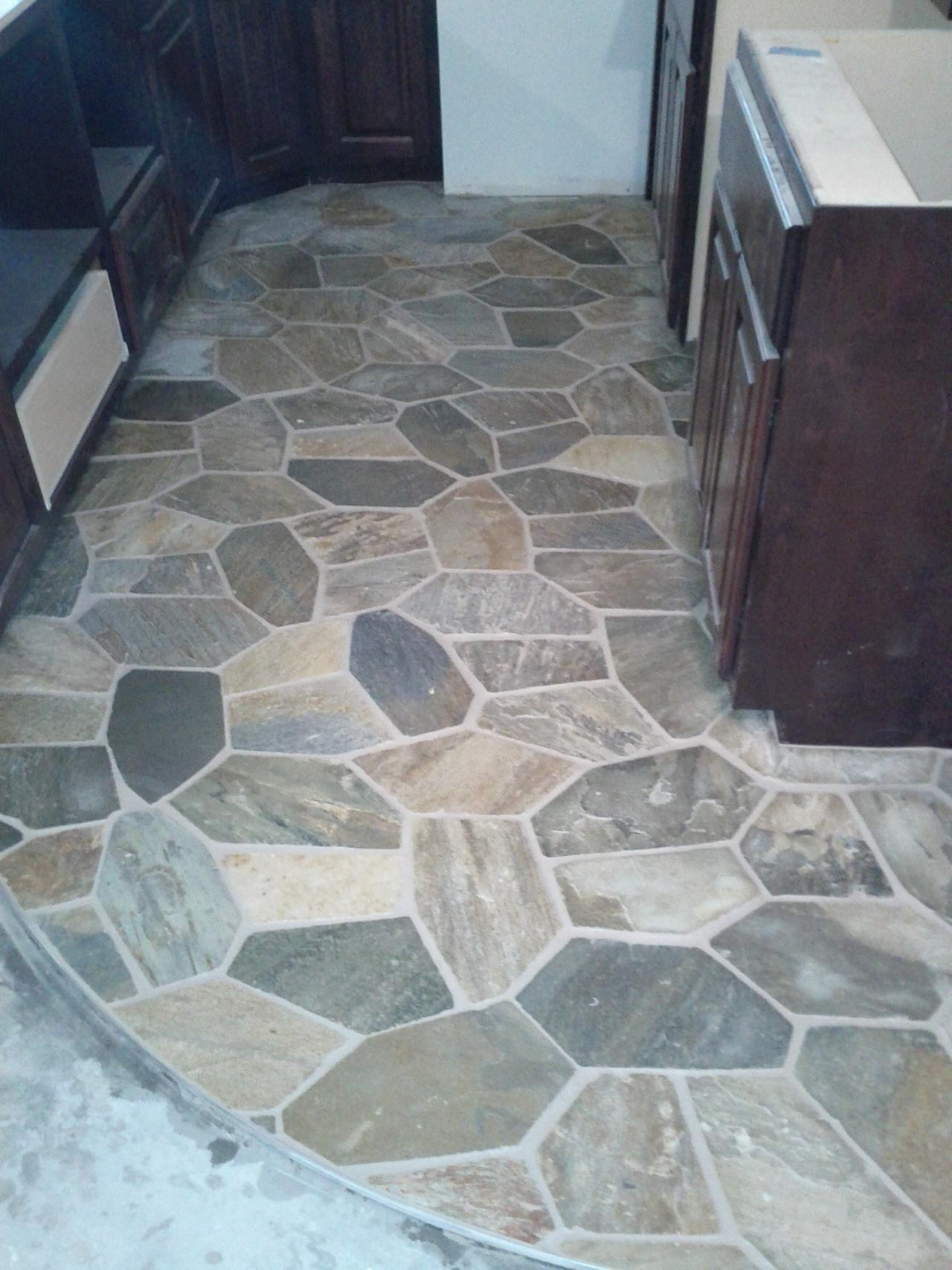 Stone Tile Floor In Basement Wet Bar Large Inspiration Natural Stone Tile Floor Natural Stone Tile Bathroom Stone Tile Flooring