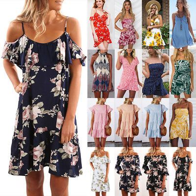 d4d860b678 Ladies floral holiday clothes Back Summer Beach discoveries mini dress uk