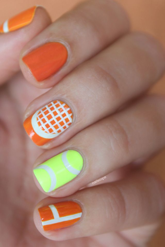 Nailscope tennis nail nails nailart tennis pinterest more cute tennis nails prinsesfo Image collections