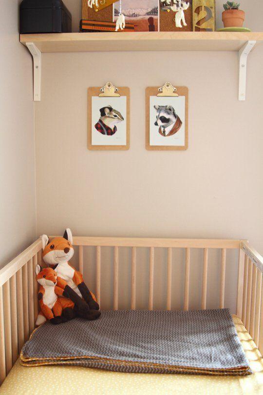 Fantastic Mr Fox Prints On Clipboards Baby Boy Fox Nursery Haus