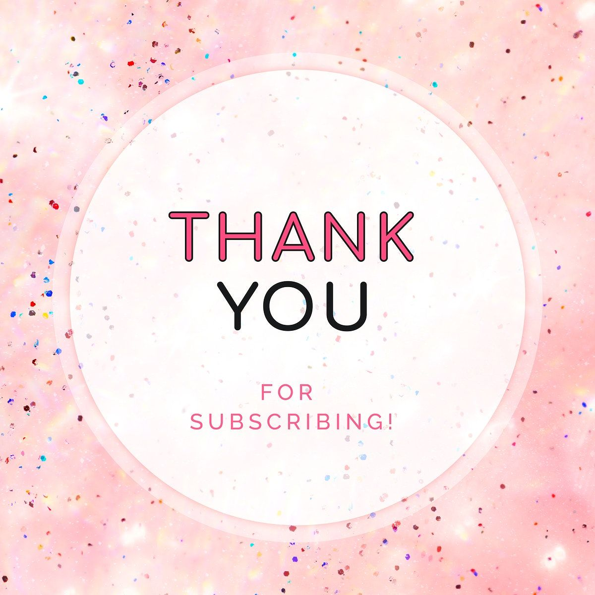 Download premium vector of Thank you for subscribing ad