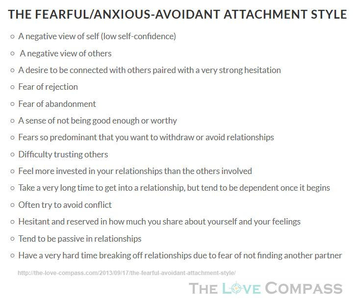 Type Dismissive-Avoidant Attachment Style