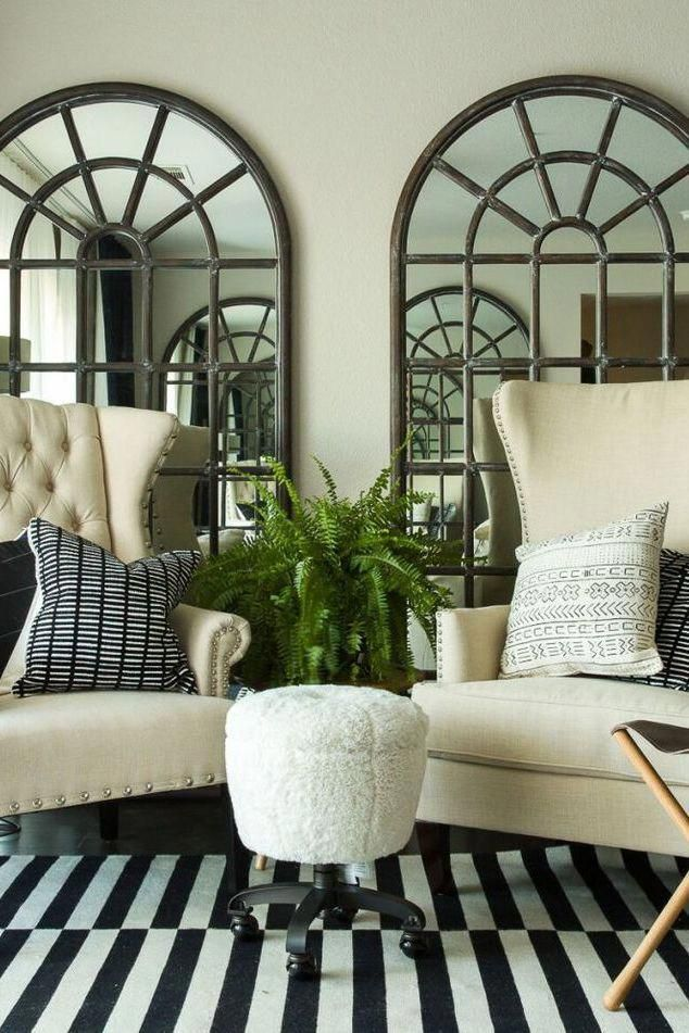 These large, window-like mirrors will add depth to the ...