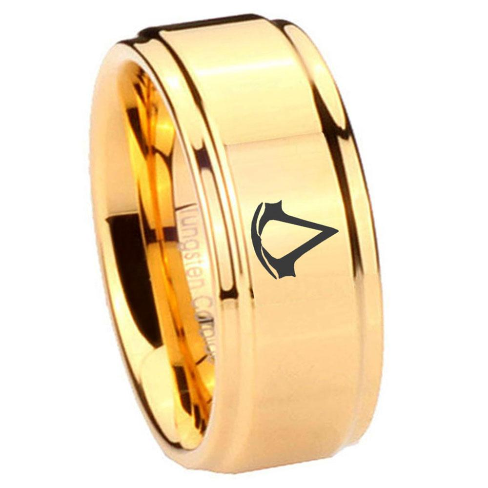 Tungsten Laser Assassin's Creed Ring Promise rings for