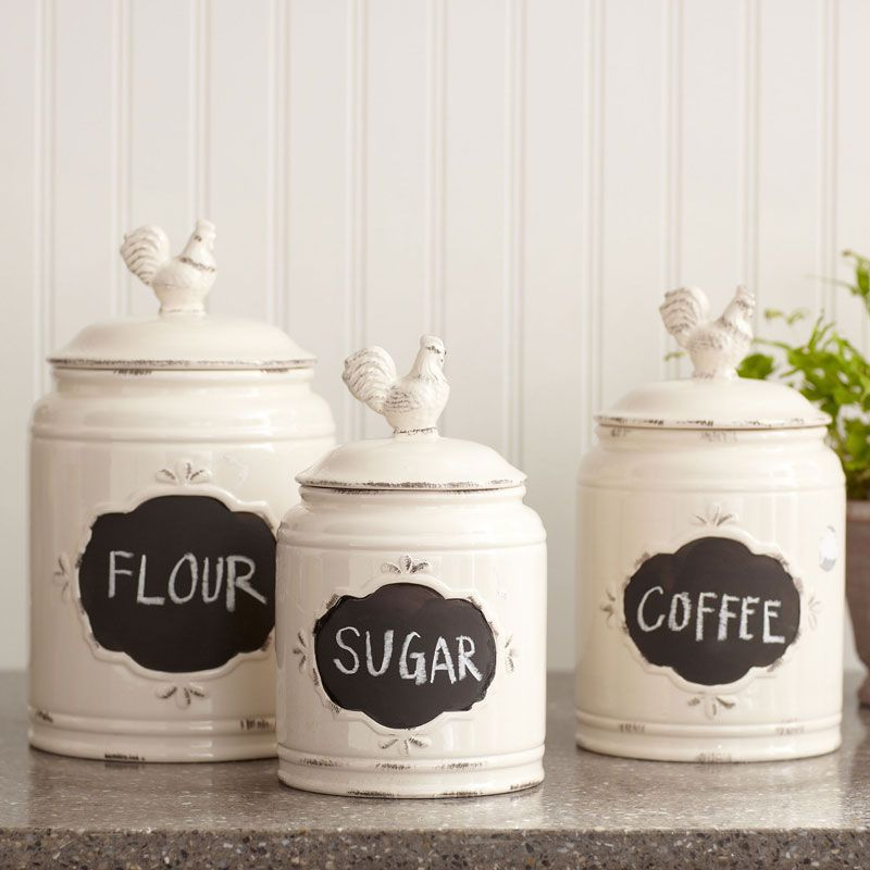 Lovely Decorative Kitchen Canisters And Jars