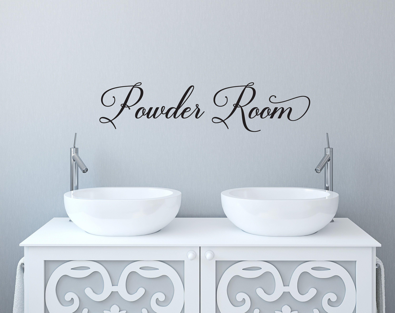 Vinyl Wall Door Decor Powder Room Restroom Etsy Bathroom Wall Decals Bathroom Rules Simple Pleasures