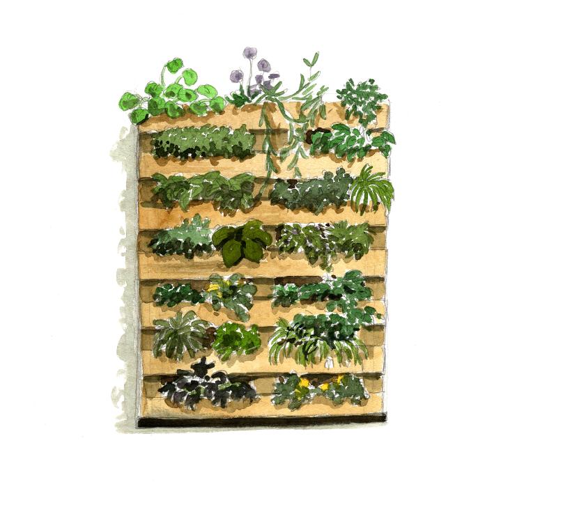 21+ Transformer une palette en jardin vertical ideas