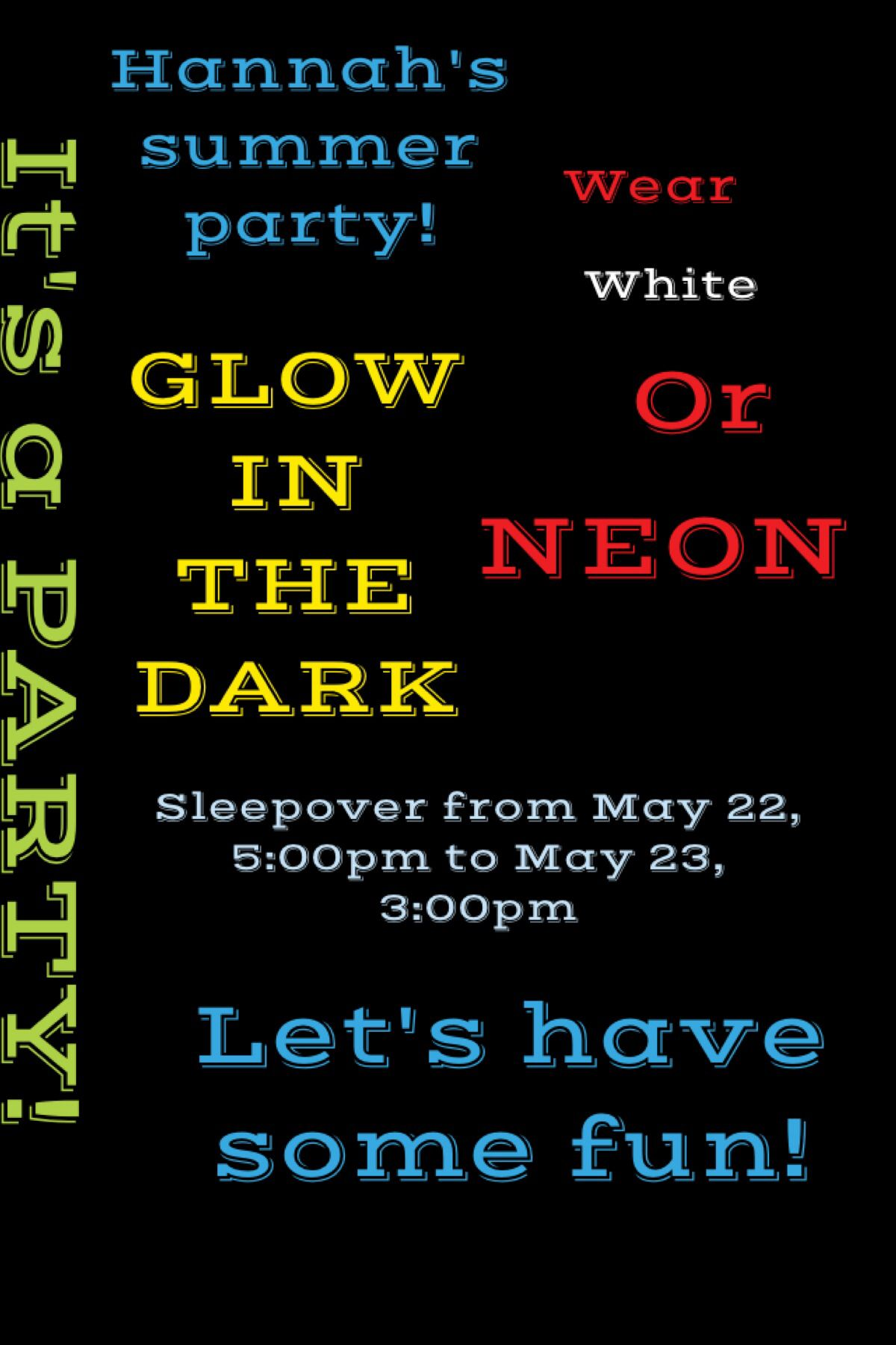 Glow in the dark party invitation! | Glow party | Pinterest | Party ...