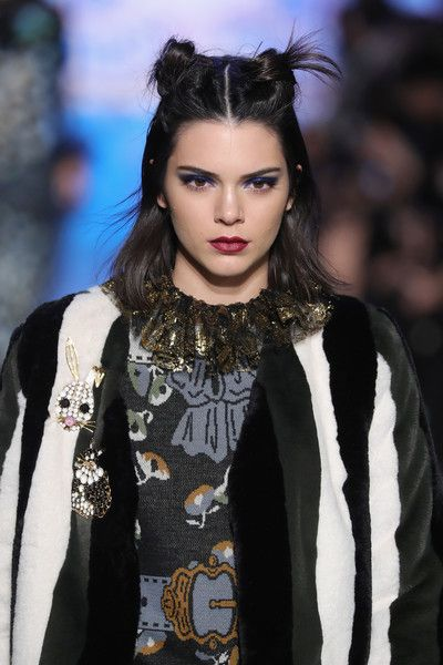 Kendall Jenner walks the runway for the Anna Sui collection during New York Fashion Week: The Shows at Gallery 1, Skylight Clarkson Sq on February 15, 2017 in New York City.