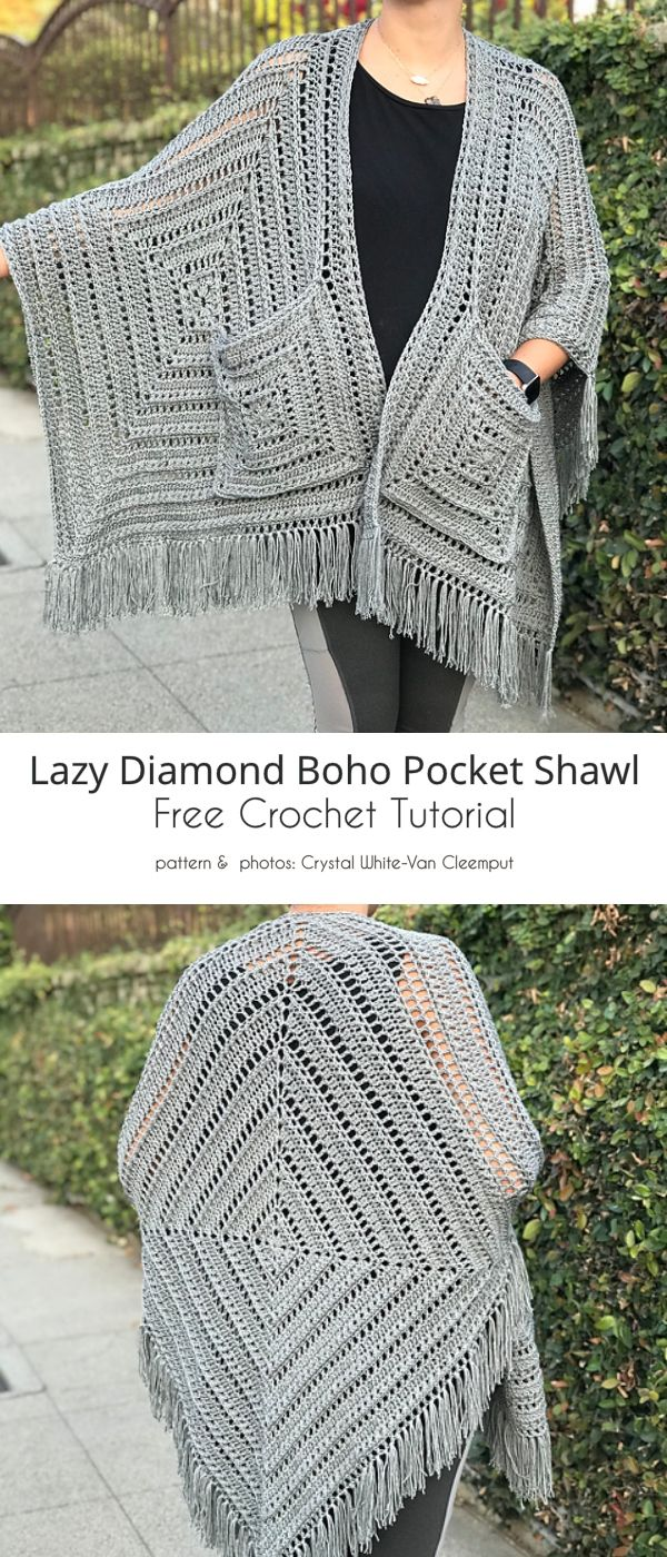 Long Crochet Cardigan Free Patterns