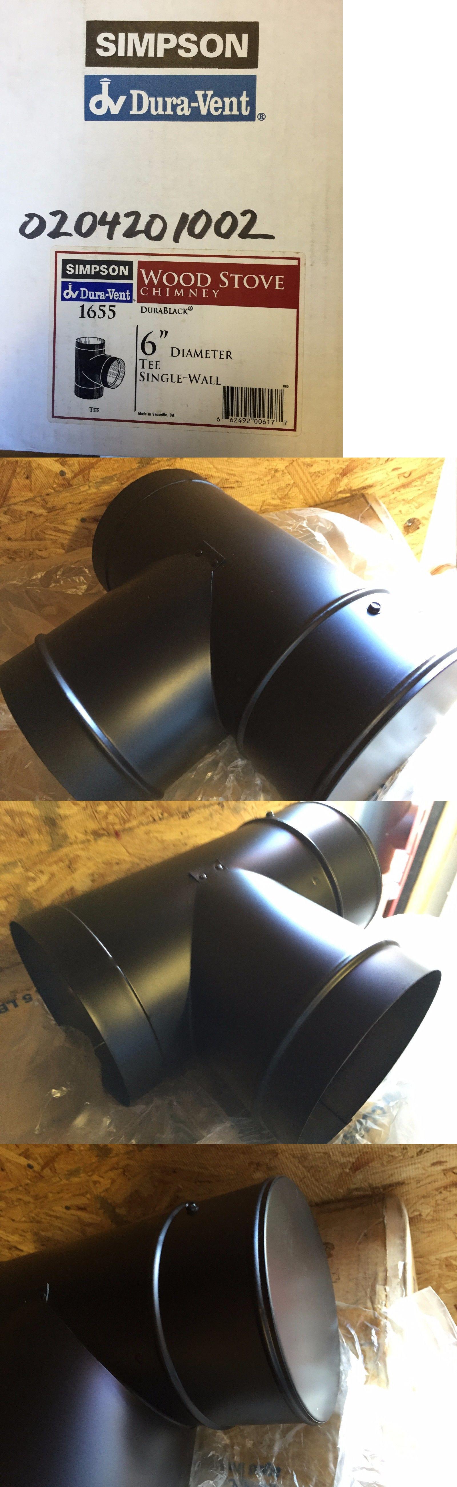 Heating Stoves 84184: Simpson Wood Stove Black Single Wall 6 Tee ...