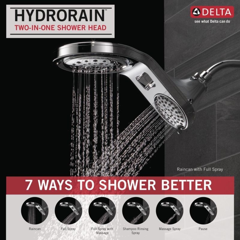 Delta 58580 Pk Shower Heads Fixed Shower Head Delta Faucets