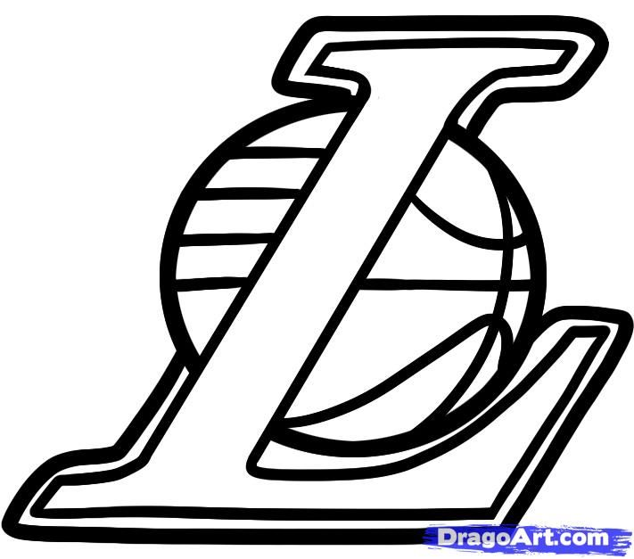How to draw the lakers the lakers logo step 5 cali - Black lakers logo ...