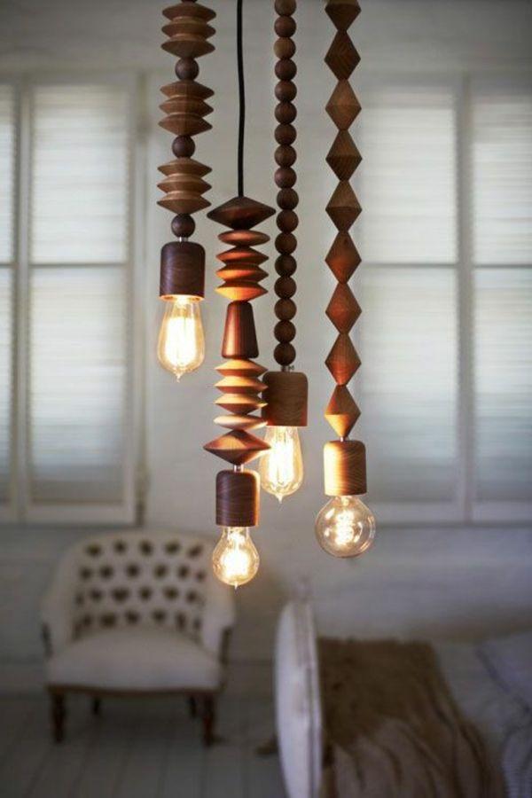 52 ausgefallene Lampen zum Inspirieren!   Wood pendant light