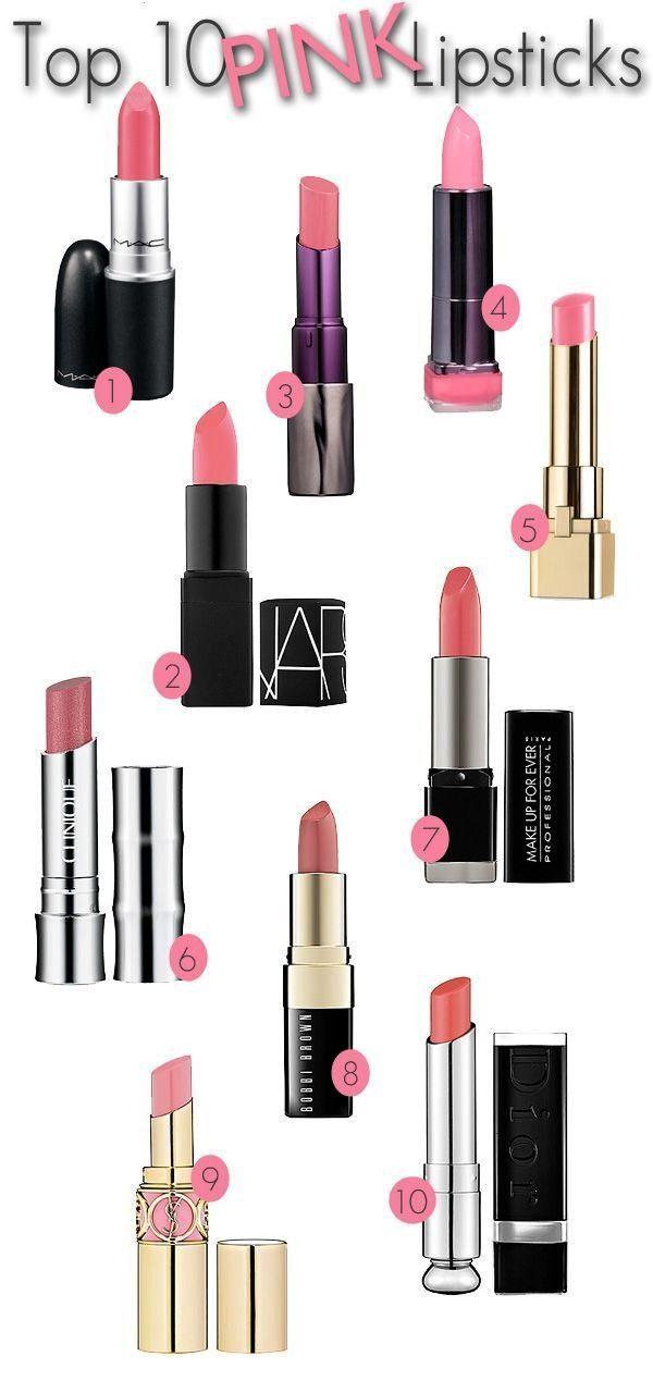 10 Pink Lipsticks. — Beautiful Makeup Search -  Top 10 Pink Lipsticks. – Home – Beautiful Mak