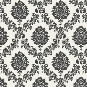 Ariel Black And White Damask Peel And Stick Wallpaper In 2020 Peel And Stick Wallpaper White Damask Damask